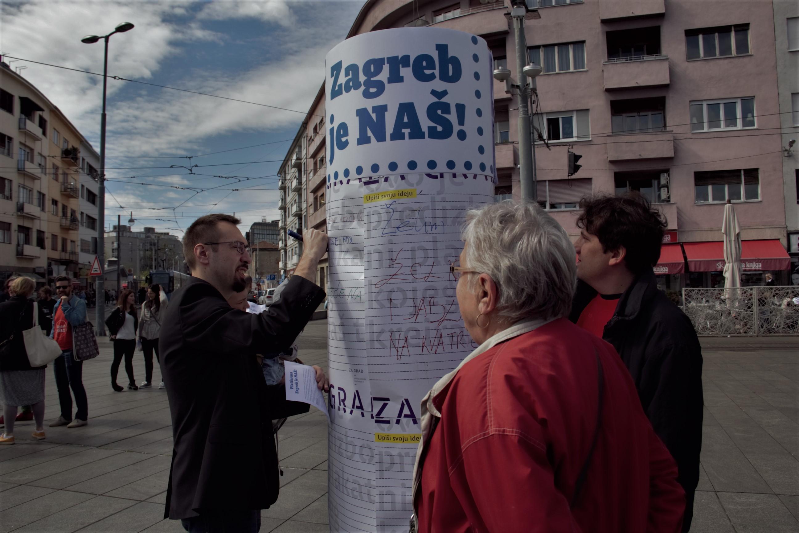 """""""Zagreb je NAŠ!"""" i """"ZA GRAD"""" izveli akciju na Kvatriću"""